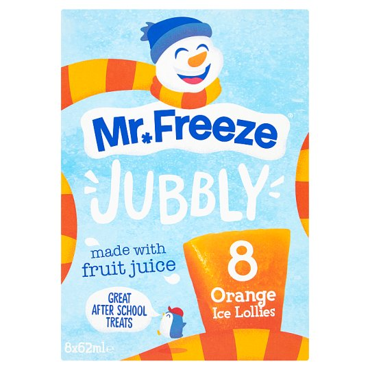 Mr Freeze Jubbly Ice Lollies Orange 8X62ml