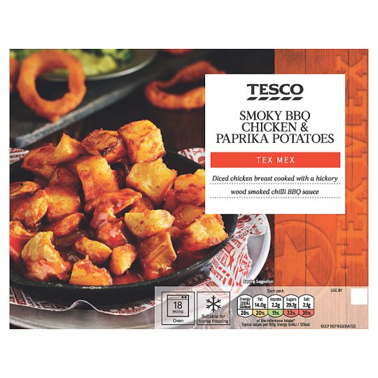 Tesco Tex Mex Smoky Bbq Chicken And Potato 450G