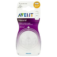Avent Natural Teat Fast Flow 6M+ X2