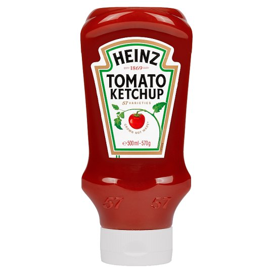 Heinz Top Down Squeezy Tomato Ketchup Sauce 570G