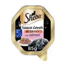 Sheba Sauce Lover Salmon Cat Food Tray 85G