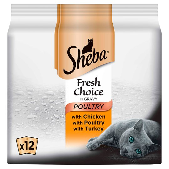 image 1 of Sheba Poultry Cat Food Pouches 12 X50g