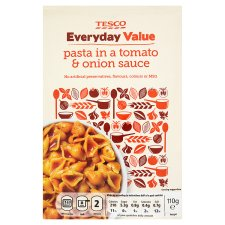 Tesco Everyday Value Tomato And Onion Pasta'n'sce 110G