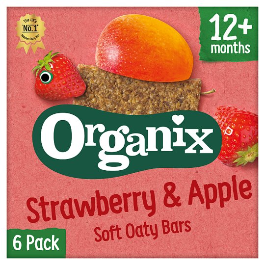 Organix 12 Month Strawberry Cereal Bar 6X30g
