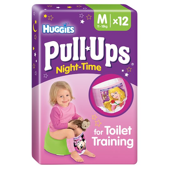 Huggies Pull Ups Girl N/Time Medium 12 Learning Pant