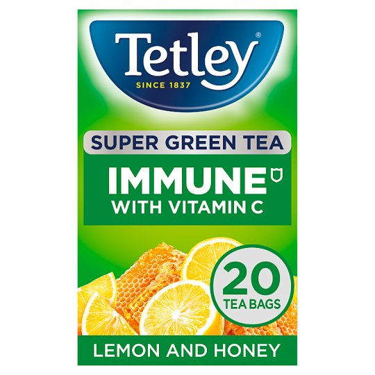 Tetley Super Green Immune Lemon And Honey 20S 40G