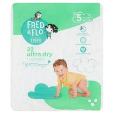 Fred And Flo Ultra Dry Size 5 Nappies Carry Pack 22Pk