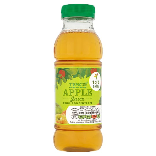 Tesco Fc Pure Apple Juice 330Ml