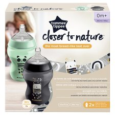 image 1 of Tommee Tippee Closer To Nature Decorative Bottles 260Ml X2