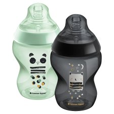 image 2 of Tommee Tippee Closer To Nature Decorative Bottles 260Ml X2