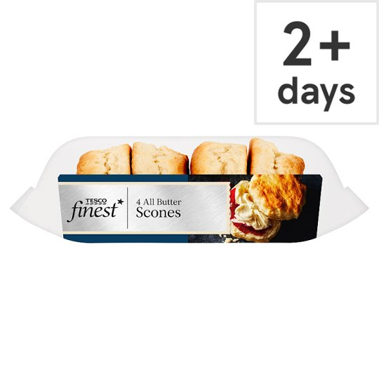 Tesco Finest All Butter Scones 4 Pack