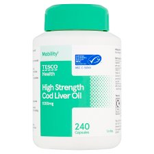 Tesco Cod Liver Oil 1000Mg 240'S