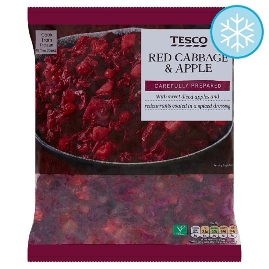 Tesco Red Cabbage And Apple 500G
