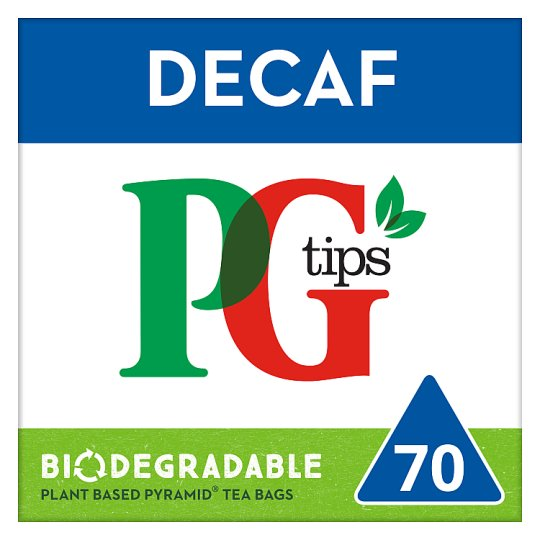 Pg Tips Decaffeinated 70 Tea Bags 203G