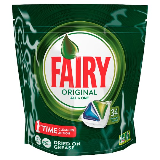 Fairy All In One Original Dishwasher Tablets 34Pk