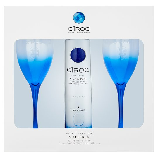 image 1 of Ciroc Vodka 20Cl And 2 Glasses Gift Pack