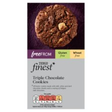 Tesco Finest Free From Triple Chocolate Cookies 150G