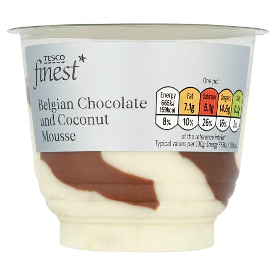 Tesco Finest Chocolate And Coconut Mousse 100G