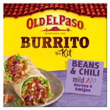Old El Paso Beef And Bean Chilli Burrito Kit 620G
