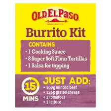 image 2 of Old El Paso Beef And Bean Chilli Burrito Kit 620G