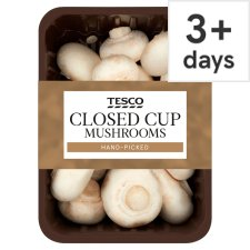 Tesco Closed Cup Mushrooms 300G