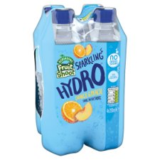 Fruit Shoot Hydro Sparkling X4 Orange Peach 350Ml