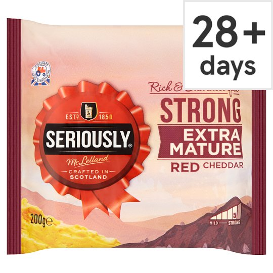 Mclellands Seriously Strong Cheddar Coloured 200G
