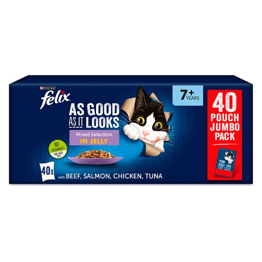 image 1 of Felix As Good As It Looks Senior Pouches 40X100g