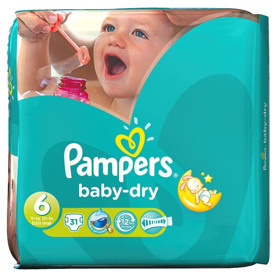 Pampers Baby Dry Size 6 Essential Pack 31 Nappies