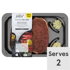 Tesco Finest Ranch Steaks With Garlic Butter 306G