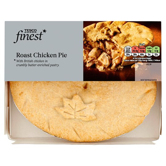 Tesco Finest Roast Chicken Pie 470G - Tesco Groceries