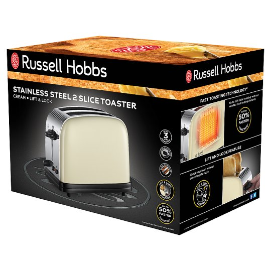 Russell Hobbs Colours 2 Slice Toaster Cream