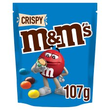 M&M's Crispy Chocolate Pouch 107G