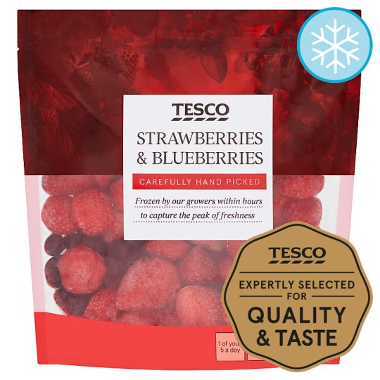 Tesco Strawberry And Blueberry 500G