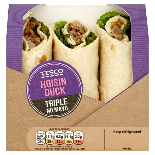 Tesco Hoisin Duck Triple No Mayonnaise Wrap