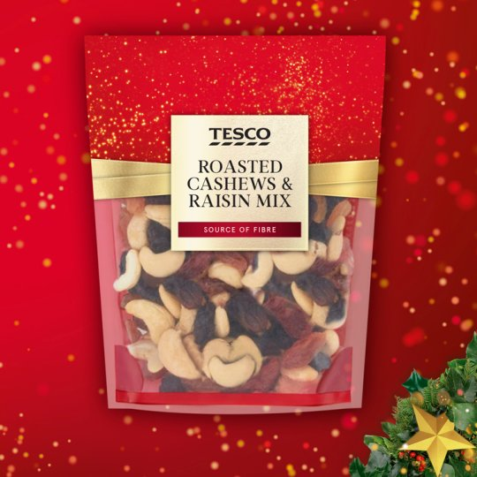 Tesco Roasted Cashew And Raisin Mix 225G