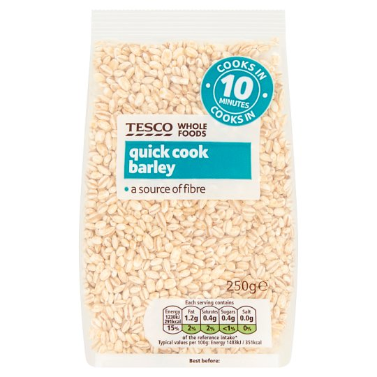 Tesco Wholefoods Quick Cook Barley 250G