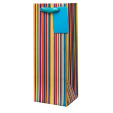 Tesco Multi Stripe Bottle Bag