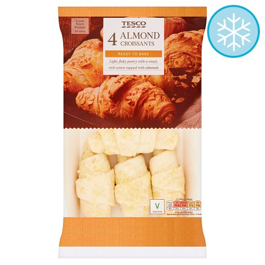 Tesco Almond Croissants 4 Pack 340G