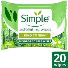 Simple Kind To Skin Exfoliating Wipes 20 Pack