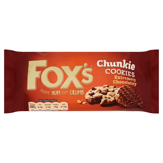 image 1 of Fox's Extremely Chocolate Chunkie Cookies 175G