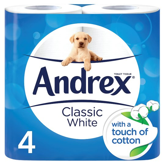Andrex Toilet Tissue 4 Roll White