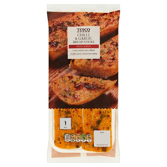 Tesco Chilli And Garlic Breadsticks 60G