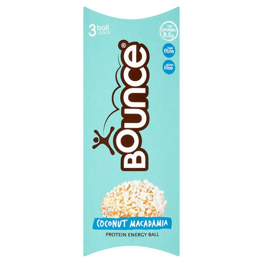 Bounce Energy Ball Coconut And Macadamia 3X40g
