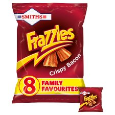 Walkers Frazzles Bacon Snacks 8 X 18 G