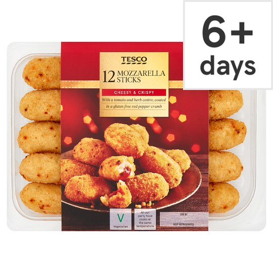 Tesco 12 Tomato And Mozzarella Sticks 240G