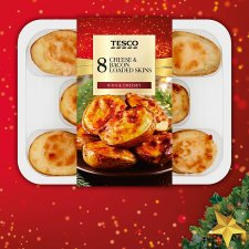 Tesco 8 Cheese & Bacon Loaded Skins 224G