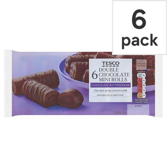 Tesco Milk Chocolate Mini Rolls 6 Pack