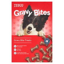 Tesco Gravy Bites Dog Treats 400G