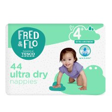 Fred & Flo 44 Ultra Dry Nappies Size 4+